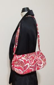 Vera Bradley small quilted pink/red paisley purse